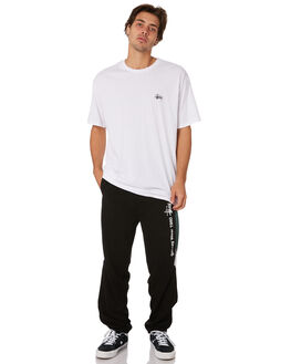 BLACK MENS CLOTHING STUSSY PANTS - ST096609BLK