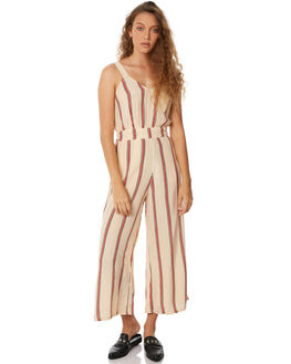 SAND RED STRIPE WOMENS CLOTHING RUE STIIC PLAYSUITS + OVERALLS - SW18-24STSTR