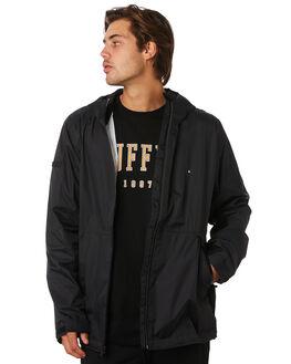 BLACK MENS CLOTHING HUFFER JACKETS - MRJA91J1701BLK