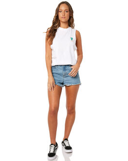 WHITE WOMENS CLOTHING AFENDS SINGLETS - W181084WHT