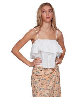 WHITE WOMENS CLOTHING BILLABONG FASHION TOPS - BB-6507101-WHT