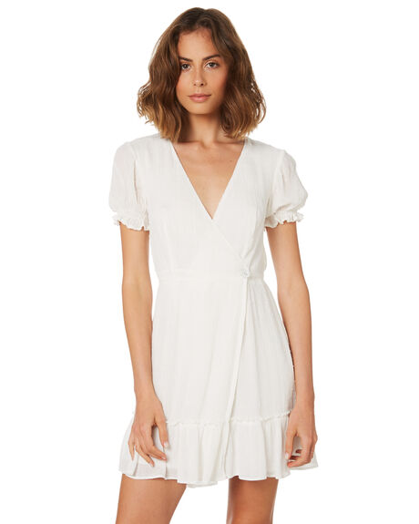 1af09bdd87cae Minkpink Elsi Crinkle Dobby Mini Wrap Dress - Off White