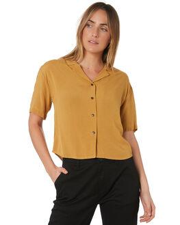 MAIZE WOMENS CLOTHING BRIXTON FASHION TOPS - 01160-MAIZE