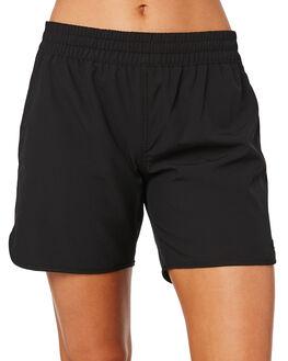BLACK WOMENS CLOTHING RUSTY SHORTS - BSL0342BLK