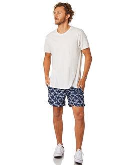 NAVY WHITE MENS CLOTHING ACADEMY BRAND BOARDSHORTS - 19S703NVWH
