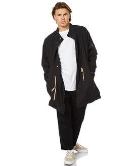 WASHED BLACK MENS CLOTHING BARNEY COOLS JACKETS - 508-MC2WBLK