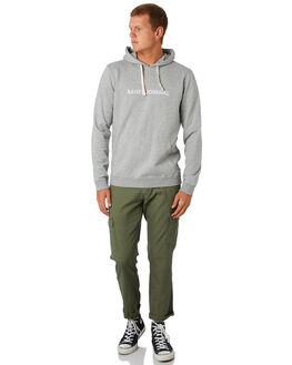 HEATHER GREY MENS CLOTHING BANKS JUMPERS - WFL0200HGR