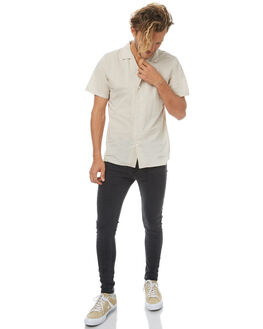 FADED BLACK MENS CLOTHING AFENDS JEANS - 12-01-050FBLK