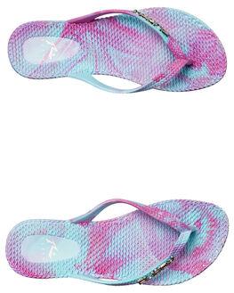 VIVID PURPLE CAPRI WOMENS FOOTWEAR RUSTY THONGS - FOL0303VPC