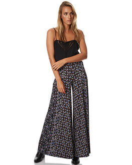 BLACK WOMENS CLOTHING TIGERLILY PANTS - T373374BLK
