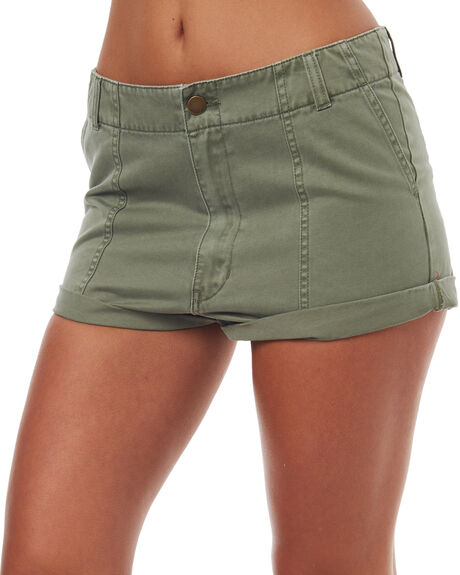 KHAKI WOMENS CLOTHING BILLABONG SHORTS - 6571273KHA