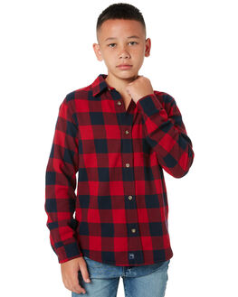 WINTER CHECK KIDS BOYS RIDERS BY LEE TOPS - R-30154T-NG5