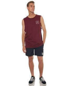 TAWNY PORT MENS CLOTHING RVCA SINGLETS - R172013TPRT