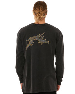 BLACK MENS CLOTHING RUSTY TEES - TTM1810BLK