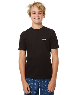BLACK KIDS BOYS GLOBE TEES - GB41730001BLK