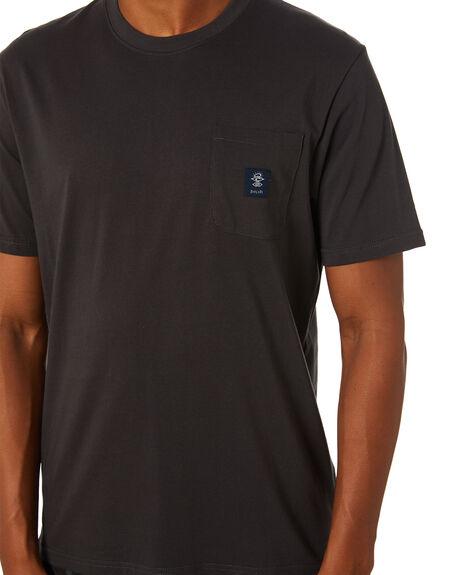 WASHED BLACK MENS CLOTHING RIP CURL TEES - CTERG98264