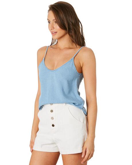POWDERY BLUE WOMENS CLOTHING RUSTY FASHION TOPS - WSL0627PYB
