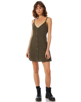OLIVE WOMENS CLOTHING AFENDS DRESSES - W182807-OLV