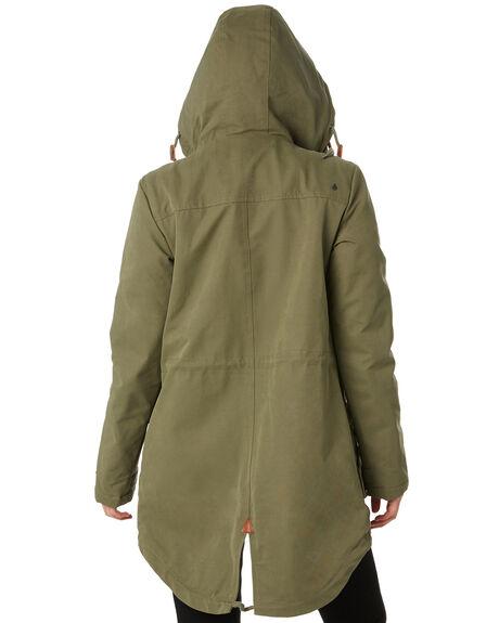 ARMY COMBO WOMENS CLOTHING VOLCOM JACKETS - B1531950ARC