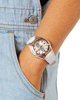 WHITE PINK GOLD WOMENS ACCESSORIES BABY G WATCHES - MSGC100G-7AWHIPG