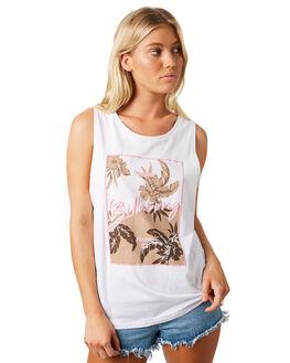 WHITE WOMENS CLOTHING BILLABONG SINGLETS - 6581182WHT