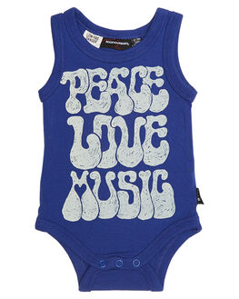 BLU KIDS BABY ROCK YOUR BABY CLOTHING - BBPEACESINGLETBLU