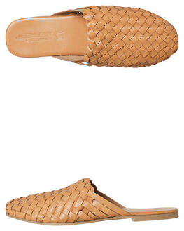 NATURAL LEATHER WOMENS FOOTWEAR HUMAN FOOTWEAR FLATS - GARLANDNALTR