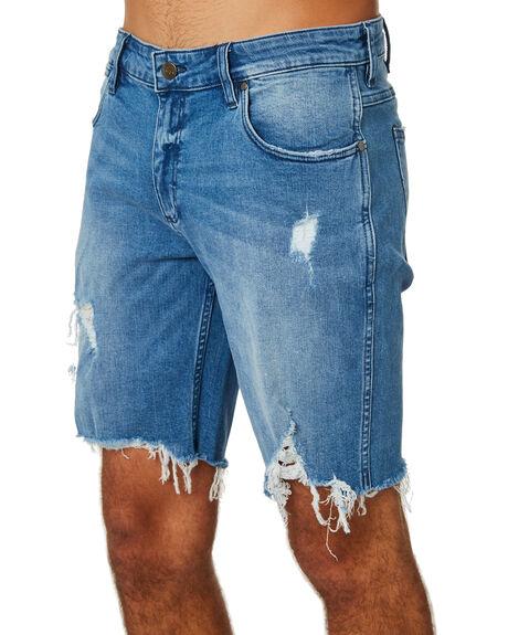 RAZORS EDGE BLUE MENS CLOTHING WRANGLER SHORTS - W-901497-KS6REBLU