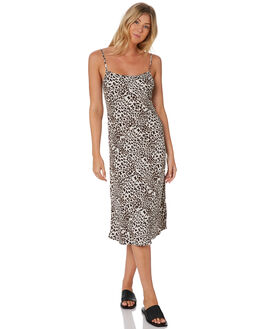 GROWL LEOPARD WOMENS CLOTHING THE HIDDEN WAY DRESSES - H8203446GRWLP
