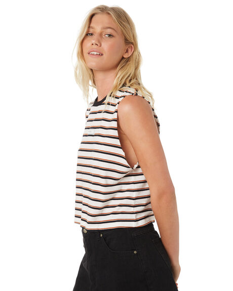 GINGER WOMENS CLOTHING RVCA SINGLETS - R293664GIN