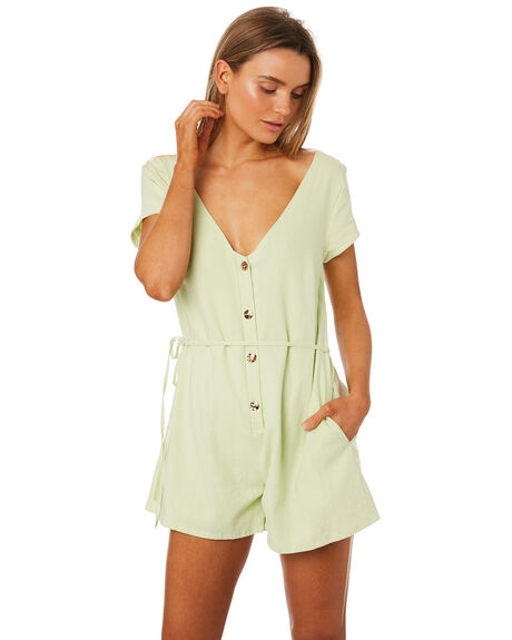 LAURA MINT WOMENS CLOTHING MLM LABEL PLAYSUITS + OVERALLS - MLM439DMINT
