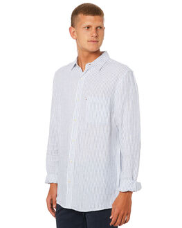 WHITE BLUE MENS CLOTHING ACADEMY BRAND SHIRTS - 19S865WBLU