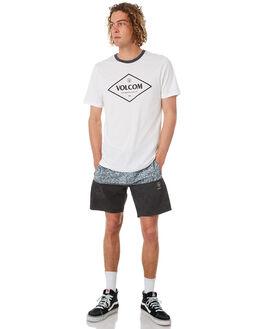 BLACK WHITE MENS CLOTHING VOLCOM BOARDSHORTS - A0831806BWH