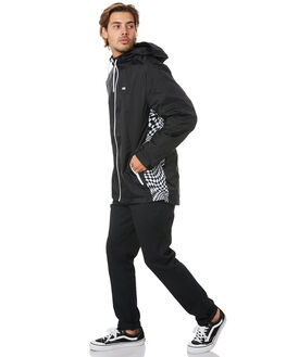 BLACK MENS CLOTHING VANS JACKETS - VN0A49PCBLKBLK