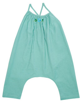 DEEP AQUA KIDS TODDLER GIRLS ISLAND STATE CO PLAYSUITS + OVERALLS - MXCNPLYST-AQUA