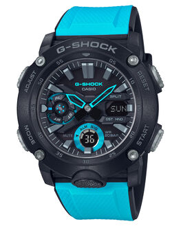 BLACK BLUE MENS ACCESSORIES G SHOCK WATCHES - GA-2000-1A2DRBLKBL