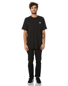 BLACK MENS CLOTHING ADIDAS TEES - FM9969BLK
