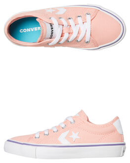 BLEACHED CORAL KIDS GIRLS CONVERSE SNEAKERS - 664240CBCRL