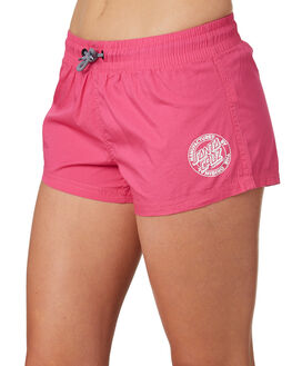 HOT PINK WOMENS CLOTHING SANTA CRUZ SHORTS - SC-WBD8722HOTP