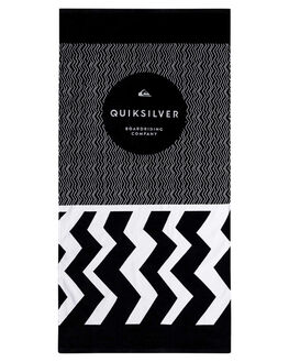 BLACK MENS ACCESSORIES QUIKSILVER TOWELS - EQYAA03602KVJ0