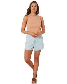 LIGHT BLUE WASH WOMENS CLOTHING ZULU AND ZEPHYR SHORTS - ZZ2816BLUE
