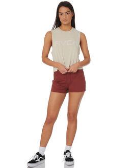 STONE WOMENS CLOTHING RVCA SINGLETS - R282004STONE