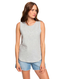 HERITAGE HEATHER WOMENS CLOTHING ROXY SINGLETS - ERJZT04763-SGRH