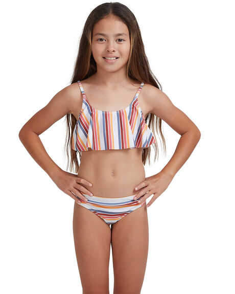 BRIGHT WHITE CONFI KIDS GIRLS ROXY SWIMWEAR - ERGX203342-WBB4