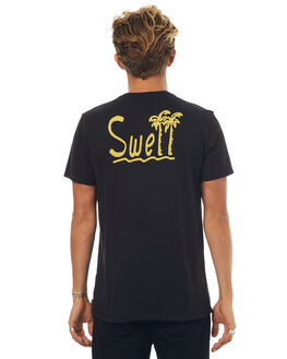 BLACK MENS CLOTHING SWELL TEES - S5171001BLK