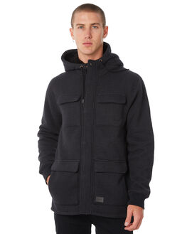 BLACK MENS CLOTHING VOLCOM JACKETS - A5811800BLK