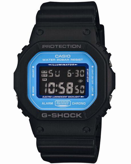 BLACK BLUE MENS ACCESSORIES G SHOCK WATCHES - DW5600SN-1DBLKBL
