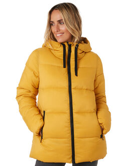 MISTED YELLOW WOMENS CLOTHING RIP CURL JACKETS - GJKCX43676