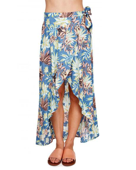 NAVY VIVIAN WOMENS CLOTHING ROXY SKIRTS - ERJWK03052BPZ9