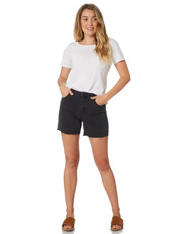 WASHED BLACK WOMENS CLOTHING SILENT THEORY SHORTS - 6093126WBLK